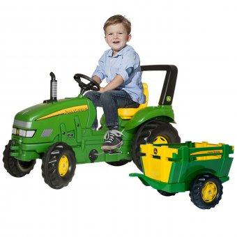 John Deere Traktor na pedały Rolly Toys X-Trac + Przyczepa 3-10 Lat do 50 kg