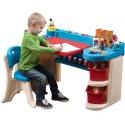 STEP2 Biurko dla małego artysty z krzesłem półkami i tablicą