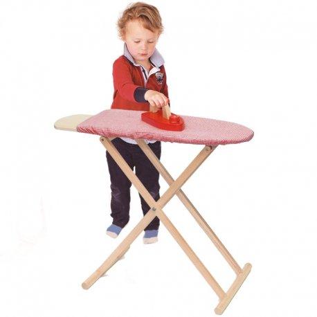 Zestaw Drewniana deska do prasowania dla dzieci Żelazko Viga