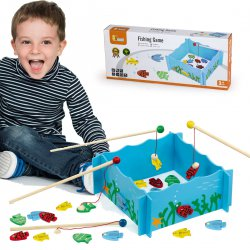 Łowimy rybki Drewniana gra Viga Toys