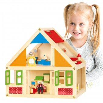 Domek drewniany dla lalek U Babci i dziadka Viga Toys