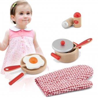 Zestaw śniadaniowy do kuchni Drewniany Viga Toys