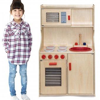 Kuchnia drewniana Natural Modern mikrofalówka Viga Toys