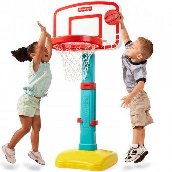 Koszykówka Fisher Price regulowana Basketball + piłka