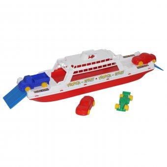 Łódź Transportowa Bałtyk Wader QT Statek Okręt + 4 auta