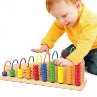 Drewniane Liczydło Edukacyjne Dwustronne Szkolne Viga Toys