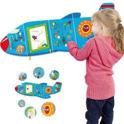 Sensoryczna tablica Manipulacyjna Viga Toys samolot