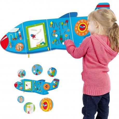 Sensoryczna Edukacyjna Tablica Drewniana Manipulacyjna Viga Samolot