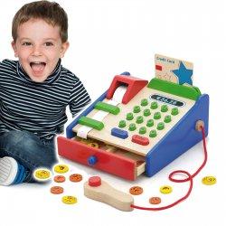 Drewniana Kasa sklepowa z akcesoriami Viga Toys