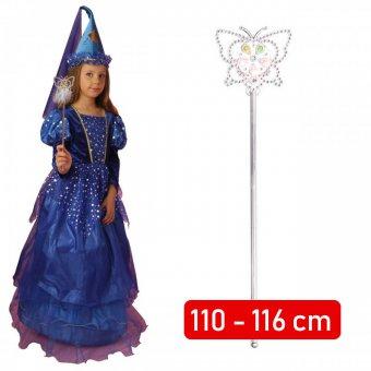 Strój Czarodziejka Wróżka Sukienka Różdżka Kostium Przebranie dla dziecka 110-116cm
