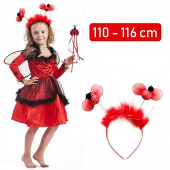 Strój Biedronka Miraculum Kostium Sukienka Skrzydełka Opaska dla dziecka 110-116cm