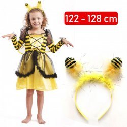 831c56c1a9a714 Strój Pszczółka Maja Pszczoła Kostium Skrzydła Opaska Sukienka dla dziecka  110-116cm