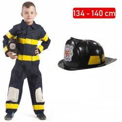 Strój Strażak Kostium Strażaka Mundur Kask Straż Pożarna dloa dziecka 110-116cm