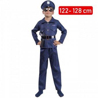 Strój Policjanta Mundur Kostium Przebranie Policjant Drogówka Policja dla dziecka 122-128cm