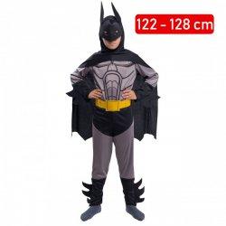 6d5222703cebe7 Strój Batman Kostium Człowiek Nietoperz Maska Pas Peleryna dla dziecka 122 -128cm