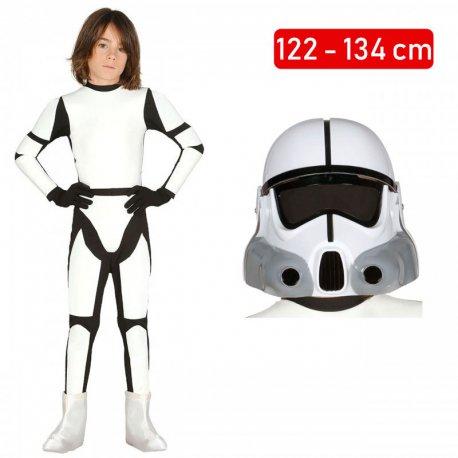 0de8851d9a96ca Strój Szturmowiec Star Wars Gwiezdne Wojny Klon Kombinezon + Kask dla dziecka  122-134cm