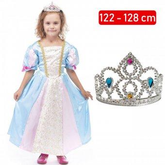 Strój Księżniczka Sukienka Korona Roszpunka dla dziecka 122-128cm