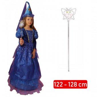 Strój Czarodziejka Wróżka Sukienka Różdżka Kostium Przebranie dla dziecka 122-128cm