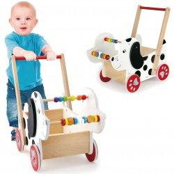 Drewniany wózek piesek Viga chodzik pchacz