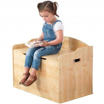KidKraft Drewniana skrzynia ławka 2w1 pojemnik na zabawki Austin Natural