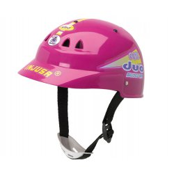 Injusa kask ochronny rowerowy różowy dla dziecka
