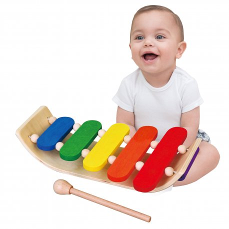 Viga Toys Drewniane Dzwonki Cymbałki Chromatyczne 5 tonowe