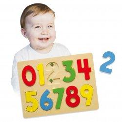 Puzzle do nauki Liczenia Drewniana układanka 123 Viga Toys