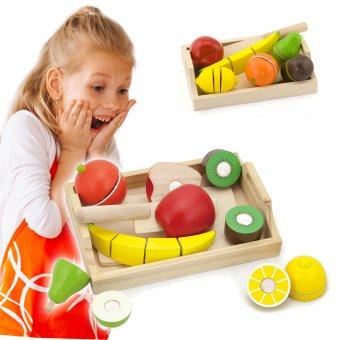 Drewniane Deska do krojenia Taca z Owocami Viga Toys