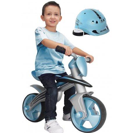 INJUSA Rowerek BIEGOWY Motorek JUMPER + Kask