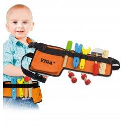 Pas z drewnianymi narzędziami Mały Monter Viga Toys
