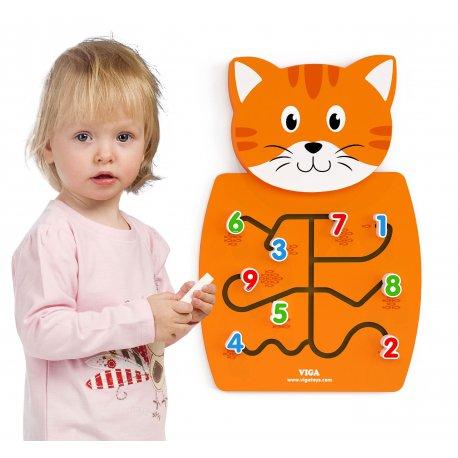 Drewniana Tablica Edukacyjna Gra manipulacyjna Kotek Viga Toys