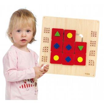 Drewniana Układanka ścienna Kształty Viga Toys