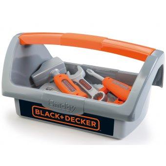 Skrzynka z narzędziami Black+Decker dla dzieci 6 akcesoriów Smoby