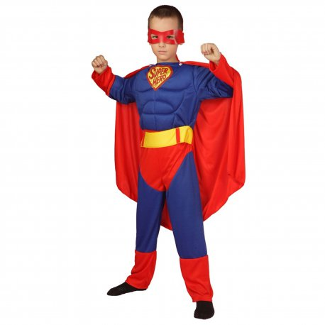 6ac63d0a5c7a64 Strój Superman Kostium Maska Pas Peleryna dla dziecka 110-116cm ...