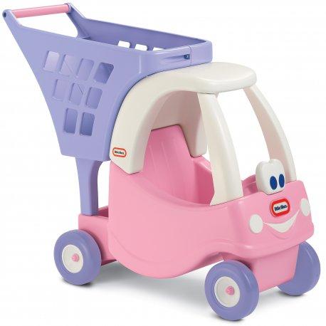Wózek na zakupy dla dzieci Little Tikes różowy