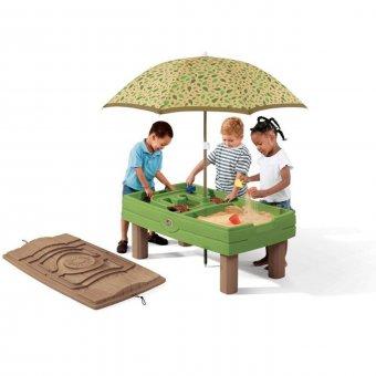 Step2 Piaskownica z parasolem 2w1 stół wodny