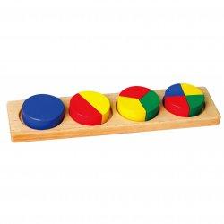 Drewniana Układanka Viga Klocki Matematyczne Ułamki 10 Klocków