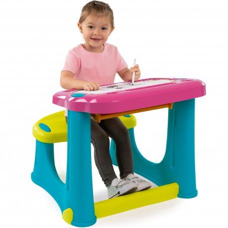 Smoby Duży stolik dla dzieci biurko ławeczka
