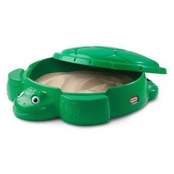 Little Tikes Piaskownica żółw pojemnik na zabawki z przykrywką