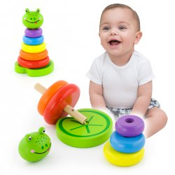 Nauka Kolorów Edukacyjna Zabawka Żabka VIGA