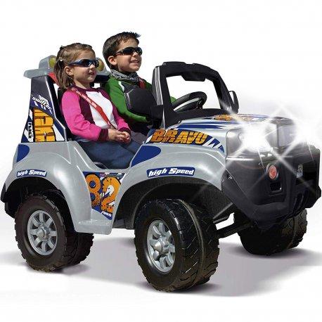 Feber Duży samochód na akumulator 12V dla dzieci ze światłami