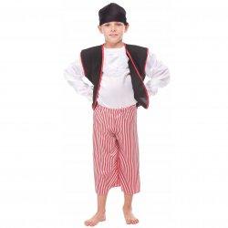 6a98c9d6582d5f Strój Pirata Pirat Kostium Kapitan Bluza Spodnie Chusta Miecz Szabla dla  dziecka 146cm