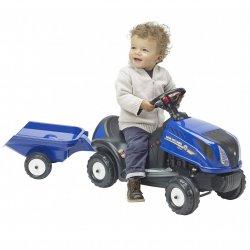 New Holland Jeździk Traktor Pchacz z przyczepą FALK