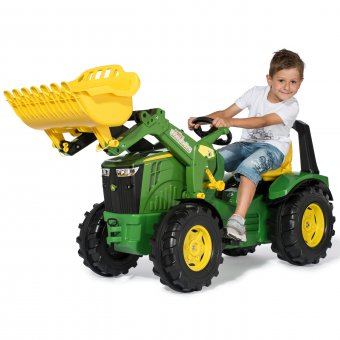 John Deere Traktor na Pedały Łyżka Ciche Koła 3-10 Lat do 50kg Rolly Toys