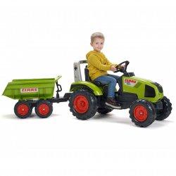 Claas Axos 330 Traktor na pedały z przyczepą FALK 3-7 Lat