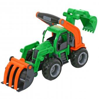 WADER Traktor Koparka z łyżką Gumowe Koła