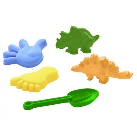 WADER Zestaw foremek Dinozaur+ łopatka i szpadelek