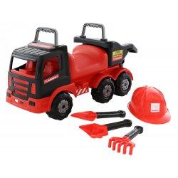 Wader QT MAMMOET Samochód Ciężarówka Jeździk Pchacz Wywrotka z kaskiem + zestaw do piasku