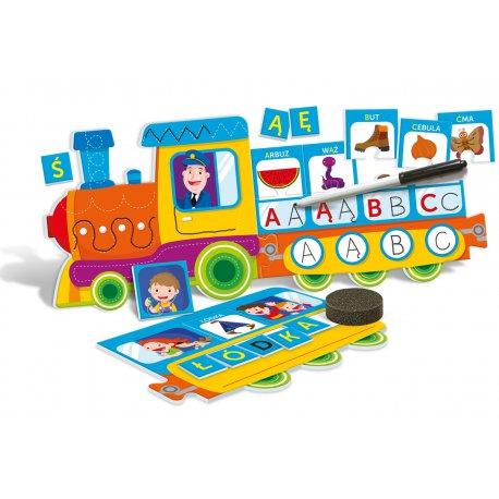 Literkowy Pociąg Gra Edukacyjna Puzzle Clementoni