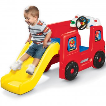 Plac Zabaw ze Zjeżdżalnią Wóz Strażacki dla dzieci Little Tikes